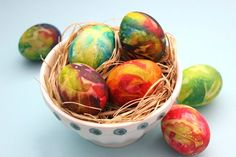 Use the tie-dyed eggs as a centerpiece for your Easter dinner.