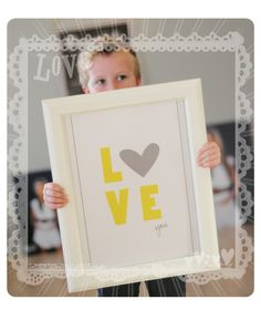 Free 8x10 Printable - LOVE you