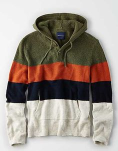 Discover an extensive selection of men's sweaters at American Eagle Outfitters. The best pieces for layering up this fall are here in a vareity of styles from V-neck sweaters to cool cardigans. Casual Shirts For Men, Men Casual, Nice Shirts, Sweater Hoodie, Men Sweater, Mens Outfitters, Eagle Outfitters, Pullover Mode, Boys Sweaters