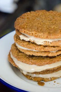 Homemade Nut Butter and Gluten Free Ginger Snap Cookie Sandwiches