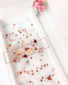 It's National Bubble Bath Day 🛁🛁 We can't wait to celebrate, but before we do, we're setting the mood with dreamy bath tub inspiretion that is sure to have you feeling relaxed. #Bath #Bathroom #BathroomDesign #BubbleBath #BathTub #InteriorDesign #Relax #Inspiration #Design #HomeDecor Bubble Bath, Bath Caddy, Bubbles, How Are You Feeling, Bath Tubs, Interior Design, Day, January, Relax