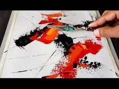 Abstract painting / Simple and Easy technique / Palette knife in Acrylics / Demonstration - YouTube