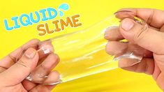 HOW TO MAKE CLEAR LIQUID SLIME | DIY Contact Lens Solution Glue Slime - ...