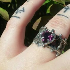 Alchemy Gothic Elizabethian Ring Alchemy Gothic Elizabethian ring featuring a beautiful amethyst Swarovski heart crystal and filigree heart band. Size 8US. Every girl wanted to be a princess growing up. Well now you can feel like a real princess wearing this gorgeous crown style ring!! Live your dream and live it beautifully! Alchemy Gothic  Jewelry Rings