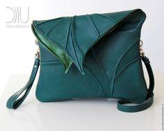 Женские сумки ручной работы. Ярмарка Мастеров - ручная работа. Купить в наличии Лист макси зеленый. Handmade. Разноцветный, в полоску