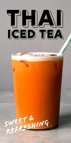 Making Thai iced tea at home is easy! Delicious and refreshing, this Thai tea recipe has a lovely rich layer of sweetened milk. #thaiicedtea #thairecipes #tearecipes #icedtea #summerdrinks