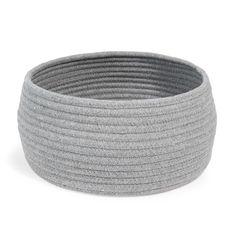 Corbeille ronde en coton grise D 26 ...