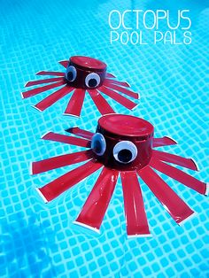 Octopus Pool Pals - fun play craft in the pool and for bathtime, too!