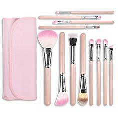 Docolor 12Pcs Makeup Brushes Set Foundation Concealer Kits with CasesPink * For more information, visit image link. (Note:Amazon affiliate link)