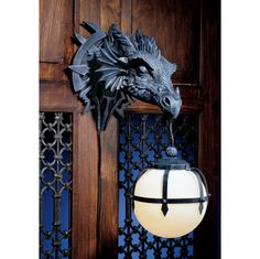 Found it!---Marshgate Castle Dragon Sculptural Electric Wall Sconce