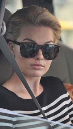 "Margot Robbie on the set of ""Pan Am."""