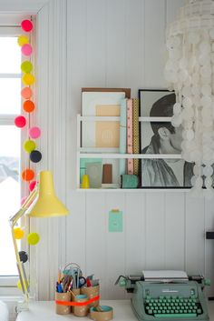 Love the addition of colour to a workspace