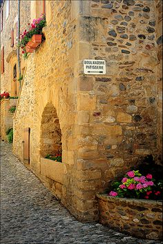 Sainte Eulalie d'Olt, France by S. Basque Country, French Countryside, Boat Tours, Pyrenees, France Travel, Small Towns, Old Town, Old World, Architecture