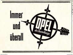 Original-Werbung/ Anzeige 1942 - OPEL - Ca. 65 X 50 Mm - Werbung