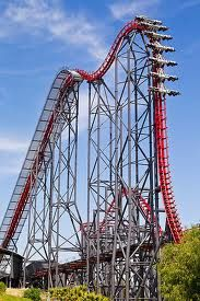 This is X2 at #SixFlagsMagicMountain. This is its 88* drop. It is a Steel 4th dimensional coaster. Manufactured by Arrow Dynamics #SixFlags