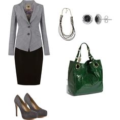 Grey Business Suit Outfit