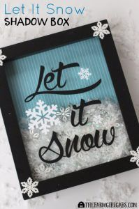 Best DIY Ideas for Wintertime - Let It Snow Shadow Box - Winter Crafts with Snowflakes, Icicle Art and Projects, Wreaths, Woodland and Winter Wonderland Decor, Mason Jars and Dollar Store Ideas - Easy DIY Ideas to Decorate Home and Room for Winter - Creative Home Decor and Room Decorations for Adults, Teens and Kids http://diyjoy.com/diy-ideas-wintertime