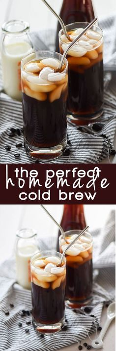 This Perfect Homemade Iced Coffee is a simple, homemade cold brew coffee that will make you think it's a coffee house treat!