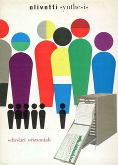 Walter Ballmer  Olivetti synthesis - schedari orizzontali