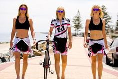 Rochelle Gilmore #rochellegilmore #bicycles Love the colors pink black and white