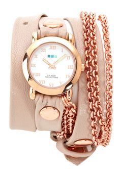 LA MER COLLECTIONS  Triple Bubble Chain Watch  $54.99