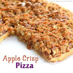 Apple Crisp Pizza on Pampered Chef Stoneware Apple Recipes, Fall Recipes, Sweet Recipes, Yummy Recipes, Skinny Recipes, Recipies, Healthy Recipes, Healthy Food, Dinner Recipes