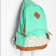 La quiero! Cute Backpacks, School Backpacks, Teen Backpacks, Canvas Backpacks, Tilda Lindstam, Lace Backpack, Puppy Backpack, Pastel Backpack, Shoes