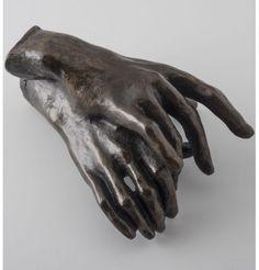 Les Mains enlacées par Auguste Rodin. Reproduction de sculpture officielle du musée Rodin.