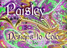 Paisley coloring books with designs  for coloring offer many different possibilities for artists, designers and colorists seeking a challenging picture to color or relaxing hobby art to explore.