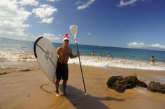 Standup Paddleboarding at Christmas on Maui