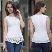 blusas blancas de randas combinadas con negro - Buscar con Google