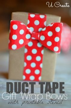 Duct Tape Gift Wrap Bows {DIY}