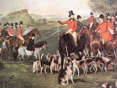 English Fox Hunt scene!