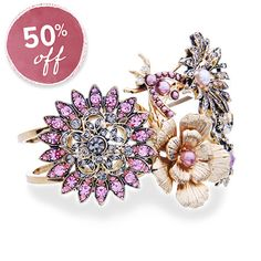 Multi Charm Garden Cuff 50% OFF. 3 days only!! Don't miss out on this! https://www.chloeandisabel.com/boutique/meredithjinkerson or click the photo.