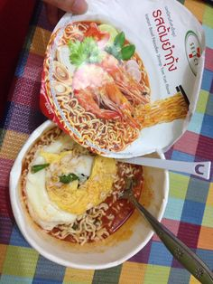 Sevel eleven in Thailand  Love this tomyum cup