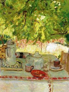 Petit déjeuner sous la tonnelle, 1908, Pierre Bonnard.