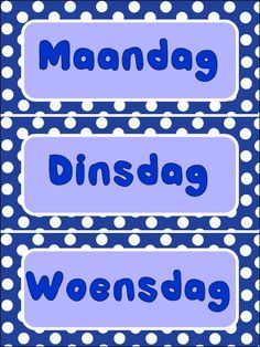 Dae van die week Plakate PDF printable Type Posters, Infant Activities, Writing Skills, Teacher Pay Teachers, Teacher Newsletter, Teaching Resources, Lesson Plans, Van, Classroom