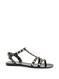 f0b38020b Valentino Garavani Rockstud PVC Sandals
