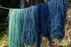 Riihivilla, Dyeing with natural dyes