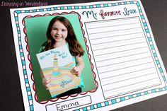 Incorporate student pictures into writing activities. Perfect for opinion writing!