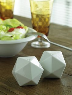 Icosa Salt & Pepper Shaker by TaiDesign