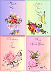 Four Notelet Card Fronts