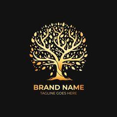 Tree Of Life Logo, Tree Of Life Symbol, Logo Lion, Logo Arbol, Water Drop Logo, Foundation Logo, Negative Space Logos, Luxury Logo Design, 257