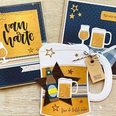 Marianne Design Cards, Masculine Cards, Van, Mugs, Men's Cards, Handmade, Card Ideas, Inspirational, Beer