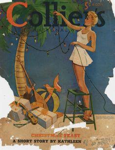 Vintage Magazine - Collier's-1938-12-31 - Tropical Winter