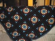 stained glass crochet afghan pattern
