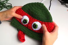 CROCHET TUTORIAL: HOW TO CROCHET A NINJA TURTLE HAT Tutorial