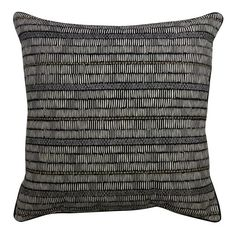Hashmarks and circles create style on the Patterned Throw Pillow in Black/White from Threshold. This embroidered accent pillow has a dark background and vigorous pattern to perk up any room's atmosphere. Black Throw Pillows, Accent Pillows, Global Decor, Dark Backgrounds, Home Accessories, Decorative Pillows, Black And White, Interior Design, Circles