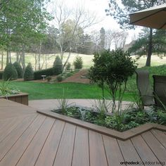 Deck stairs idea | Did you know that built-in planters can be designed to integrate with your deck's steps?