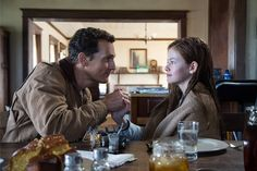 Matthew McConaughey and Mackenzie Foy in Christopher Nolan's Interstellar, Mackenzie Foy, Christopher Nolan, Iconic Movies, Good Movies, Legendary Pictures, Space Movies, Foreign Movies, Sci Fi Films, Interstellar